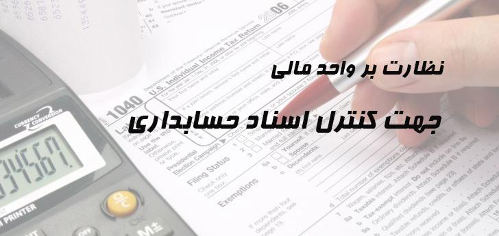 ارائه خدمات حسابداری و مالی در زمینه نظارت بر واحد مالی