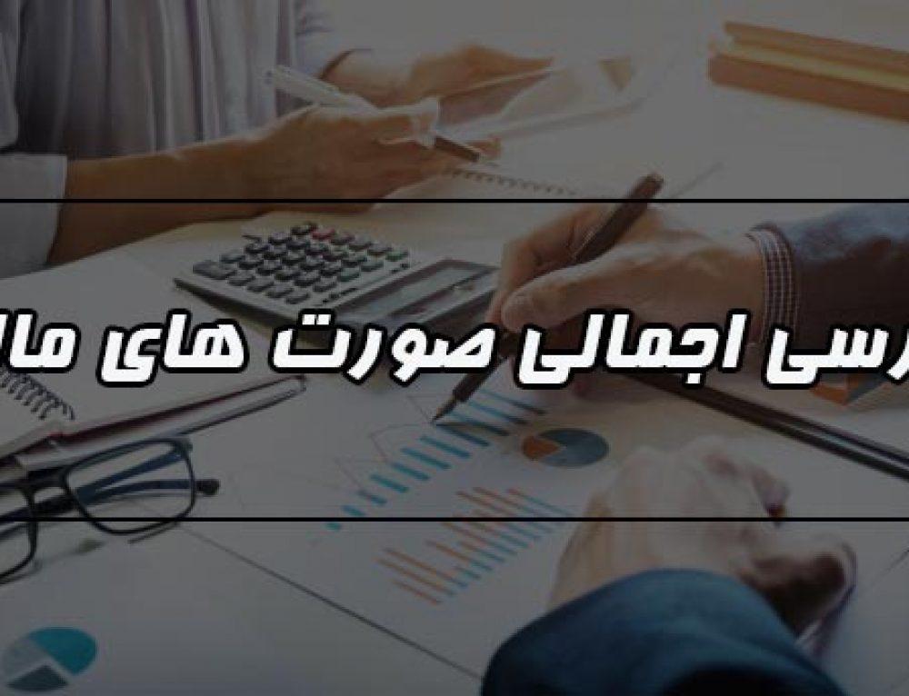 بررسی اجمالی صورت های مالی از جمله خدمات شرکت حسابداری