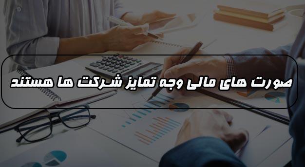 بررسی صورت های مالی وجه تمایز شرکت ها