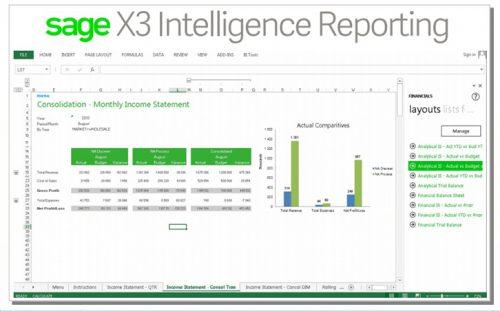 SAGE X3 نرم افزار حسابداری